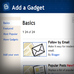Blogger Widget screen shot