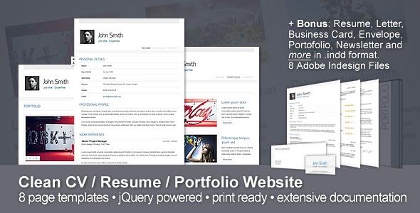 resume portfolio template 2838