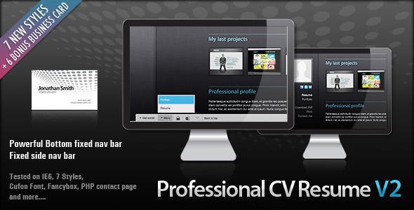 Professional Clean HTML CV RESUME Free and Premium Resume Templates