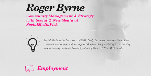 Roger Byrne Free Resume Template Free and Premium Resume Templates for html Websites
