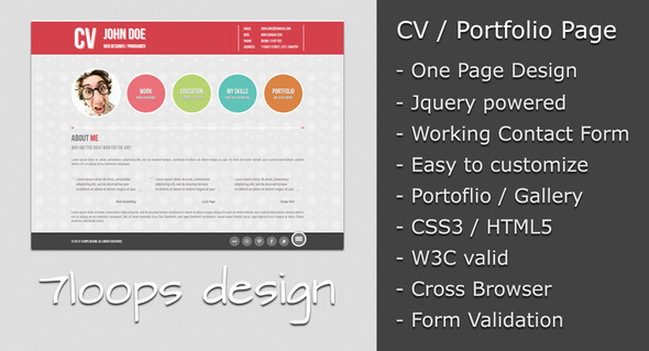 Symplicity CV Portfolio Page Free and Premium Resume Templates for html Websites