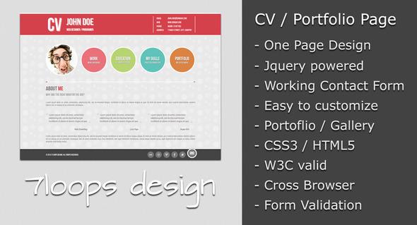 Symplicity CV Portfolio Page Free and Premium Resume Templates