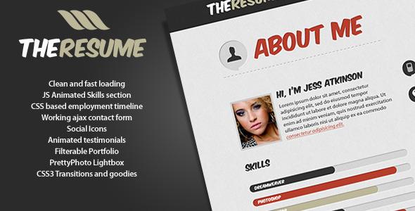 The Resume Free and Premium Resume Templates
