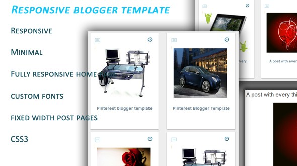 Pinterest Responsif Clone Blogger Template