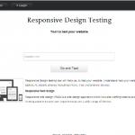 Responsive Web Design Testing Tool