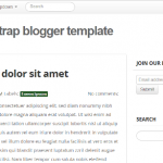 Basic Blogger Template using Twitter Bootstrap