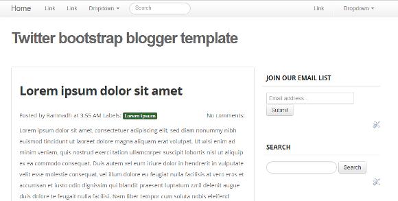 Twitter Bootstrap blogger Template
