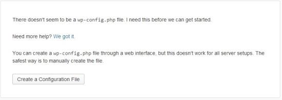 WordPress Installation First Step