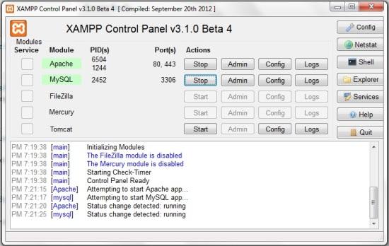 Xampp Control panel How to Install WordPress on your Windows PC using Xampp