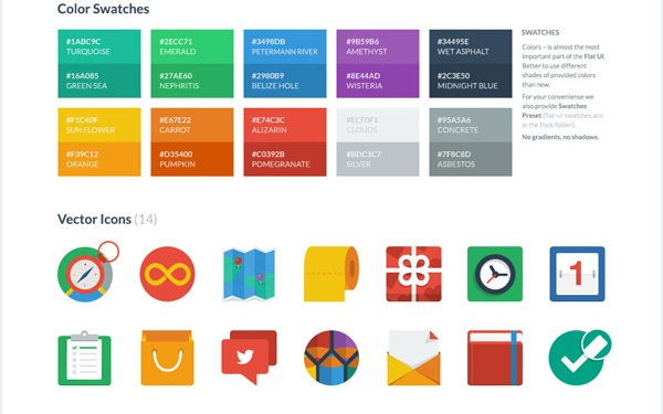 Flat UI Colors and Icons