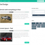 Flat Design Approach in Blogger – Flat UI Blogger Template