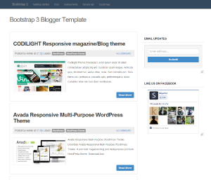 Bootstrap 3 Responsive Blogger Template