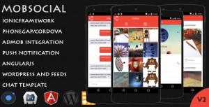 MobSocial – Cordova Phonegap Hybrid App Template