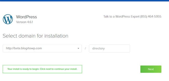 wordpress-installation-beta