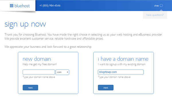 bluehost-domain-name
