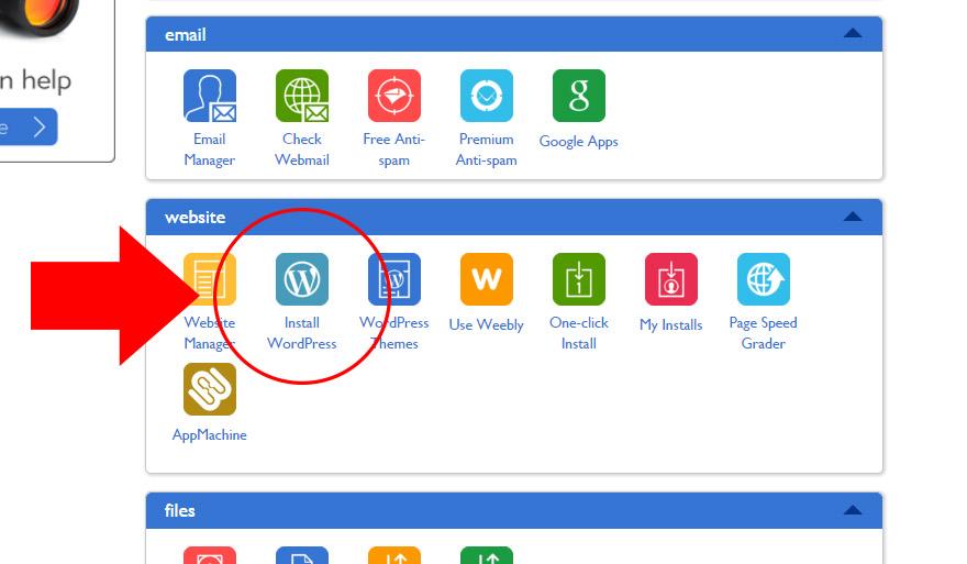 install wordpress button